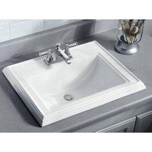 Town Square DropIn Bathroom Sink For Widespread Faucet - Square drop in bathroom sink for bathroom decor ideas