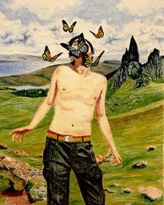 #drawing #disegno #art #butterfly #farfalle #tattoo #landscape #dream #oniric #illustration