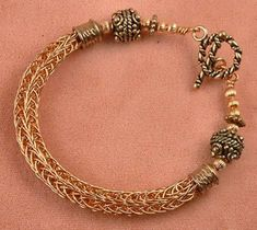 Viking Wire Weaving   Making a Viking Knit Bracelet - The Wire   How to Make Jewelry Now