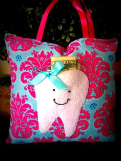 Tooth Fairy Pillow @Sarah Nelson  A sew sweet idea? It wouldn't have to be very big, 15x15cm? I would pay like $10-15 for something like this, it'e very cute!!!