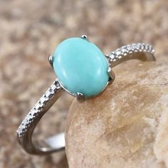 Embellish your gorgeous looks with this Sonoran blue turquoise ring and look fascinating at every occasion. Delicately crafted, this solitaire ring features oval-cut turquoise with mesmerizing shades. Set in a frame of stainless steel, this delight is for keeps.  Free Shipping Gift Box