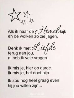 Carol I miss you so ! Sad Quotes, Words Quotes, Wise Words, Love Quotes, Sayings, My True Love, Love You, Miss My Dad, Dutch Words