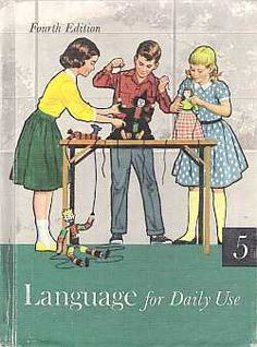 Language For Daily Use School Textbook 1959 - $35.00 : Vintage Collectibles Sewing Patterns Postcards Aprons Ephemera