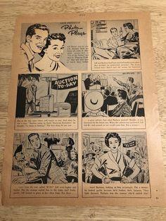 JEFFREY HUNTER, BARBARA RUSH  -   Vintage 1952 Photo-Plays Comic Strip Page
