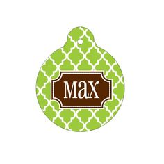 Moroccan Tile Pet Tag | Pet ID Tag | Personalized Pet ID | Dog Tag | Bone Shaped Tag  | Pet Accessory by TheInspiredPet on Etsy