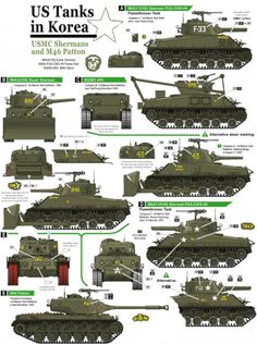 Military and Aviation — historywars: Korean War Tanks Tank Armor, Armored Fighting Vehicle, Military Pictures, Military Modelling, Ww2 Tanks, World Of Tanks, Military Weapons, Korean War, Panzer
