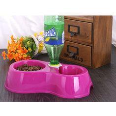 1PCS pet supplies Double use pet bowls, dog feeding, dog drinking bowls, dog Bowls for cats