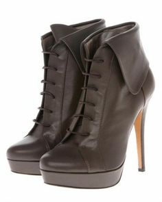 Marc Olivier Lace Up Stiletto Heel Booties