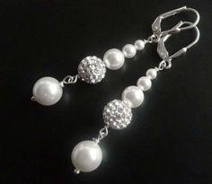 Traumhafter Perlen Kristall Ohrschmuck - Ohrringe Hochzeit