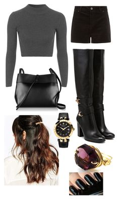 """Untitled #16"" by cate-ix on Polyvore featuring Topshop, Kara, Suzywan DELUXE and Versace"