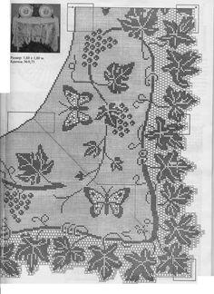 Mary Card filet crochet