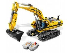 The Motorised Excavator from Lego - a great selection of Lego construction sets at Wonderland Models.    One of our favourite sets in the Lego Technic range is the Motorised Excavator.    No dirty job is too big for this heavy-duty Motorised Excavator! Just flip a switch on the Lego Power Functions dual infrared remote control to drive the excavator to job sites, spin the cabin 360 degrees, manoeuvre the articulated arm and dig with the shovel.