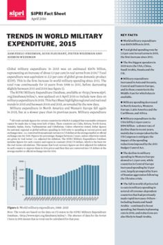 Trends in world military expenditure, 2015 - SIPRI Fact Sheet