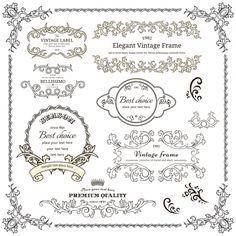 elegant vintage frame cdr vector