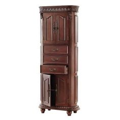 Home Decorators Collection Kendall 28 in. W Linen Cabinet in Antique Cherry-1670810920 at The Home Depot