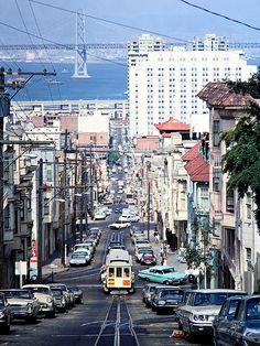 MUNI, San Francisco, California, 1968 | San Francisco Munici… | Flickr Usa San Francisco, San Francisco Travel, San Francisco California, California Usa, Railroad Photography, City Photography, Barcelona, San Fransisco, Bay Area