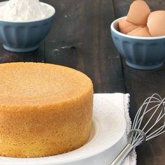 Italian Sponge Cake (Pan di Spagna) Recipe Desserts with granulated sugar, eggs, salt, grated lemon zest, cake flour