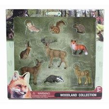 CollectA Woodland Animal Life boxed sets make a beautiful gift for the animal loving child or adult collector.  This  beautifully packaged set includes nine woodland figures: 88001 - Red Fox, 88003 - Barn Owl, 88467 - Red Squirrel (Eating), 88458 - Hedgehog, 88012 - Brown Hare, 88015 - Eurasian Badger, 88469 - Red Deer Stag, 88470 - Red Deer Hind and 88471 - Red Deer Calf.  CollectA is known as one of the leading manufacturers worldwide of the finest scaled replicas collections. These…