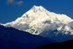 in the himalayan mountains of nepal - stands the third tallest mountain in the world - mount kanchanjunga at 28169 feet