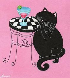 Котик и мартини