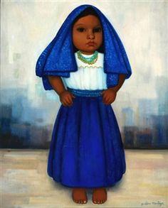 Blue Girl By Gustavo Montoya