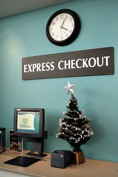 Decor at the Express Checkout Library Signage, Home Decor, Decoration Home, Room Decor, Interior Design, Home Interiors, Library Signs, Interior Decorating