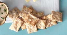 Tangy, salty, crispy crackers, made with discarded sourdough starter.
