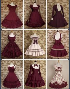 1 2 3 4 5 6 7 8 9 choose one I like 8 :) Kawaii Fashion, Lolita Fashion, Cute Fashion, Vintage Fashion, Dress Outfits, Cool Outfits, Fashion Dresses, Pretty Dresses, Beautiful Dresses