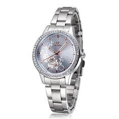 8fd5e5331 Dámské hodinky s kovovým páskem – růžové Na tento produkt se vztahuje nejen  zajímavá sleva,