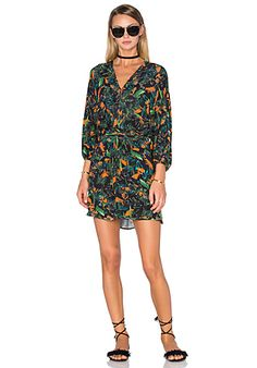 ANIMALE Tropical Long Sleeve Dress in Tropical Print | REVOLVE