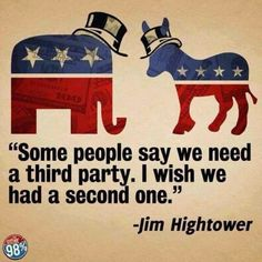 """THE MYTH OF THE TWO PARTY SYSTEM "" 