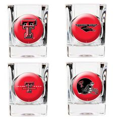 Texas Tech Red Raiders 4-Piece 2oz. Square Shot Glass Set
