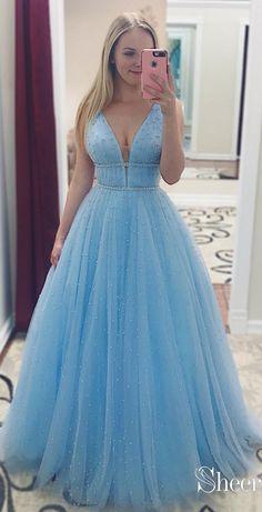 Elegant Sequins Straps Prom Dresses Sleeveless Evening Dresses with Beads Straps Prom Dresses, Cute Prom Dresses, Elegant Dresses, Beautiful Dresses, Long Dresses, Casual Dresses, Wedding Dresses, Dress Prom, Dance Dresses
