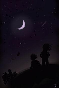 noche de ideas compartidas, una luna que no calla
