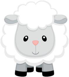 Farm Animal Party, Farm Animal Birthday, Farm Birthday, Farm Party, Baby Sheep, Cute Sheep, Sheep Cartoon, Eid Stickers, Eid Crafts