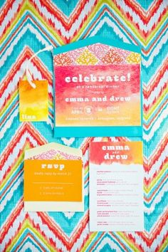 Watercolor rehearsal dinner ideas