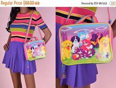 ON SALE 90s Lisa Frank Purse/ 1990s/ Lunch Bag/ Rainbow/ Rave by JUNKKYARD on Etsy https://www.etsy.com/listing/471125751/on-sale-90s-lisa-frank-purse-1990s-lunch