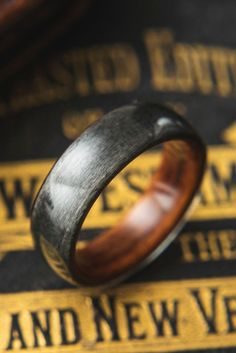 <div>Men's Bentwood Wedding Ring - 100% customizable to your own liking. Made from wood. A ring for the husband who wants something unique. </div><div><br></div>...