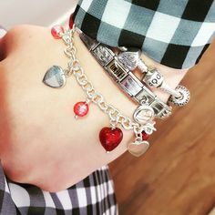 We just love these murano heart charm bracelets! Such a festive colour  - Shop now > http://ift.tt/1Ja6lvu