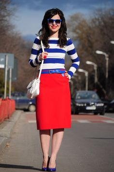 navy stripes....perfect for my new red pencil skirt!!!!
