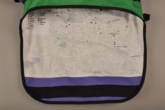 Messenger Bags with city maps printed on the liner! Not as fancy as an iPhone, but a darnsight better in the rain! Made by TRAKKE in collaboration with GRID.