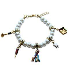 Dental Assistant Charm Bracelet in Gold