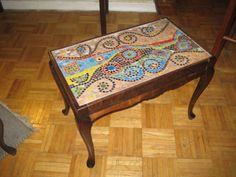 small mosaic table top