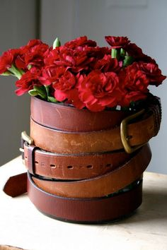 leather-wrap-flower-vase