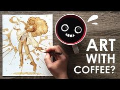 I can't believe how pleased I am with how this coffee illustration turned out! I was terrified, but. Are you a coffee drinker or tea drink. Coffee Illustration, Illustration Art, Painting Lessons, Art Lessons, Art Simple, Art Watercolor, Design Girl, 2d Design, Coffee Painting