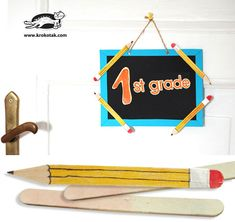 Decoration pencils from ice cream sticks | krokotak
