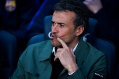 Head coach Luis Enrique Martinez of FC Barcelona looks on before the La Liga match between FC Barcelona and Sevilla FC at Camp Nou stadium on April 5, 2017 in Barcelona, Catalonia.