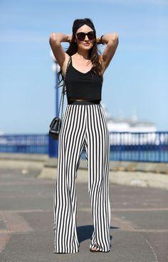 calça listrada, inspiração, look, moda, stripped pants, inspiration, fashion, outfit
