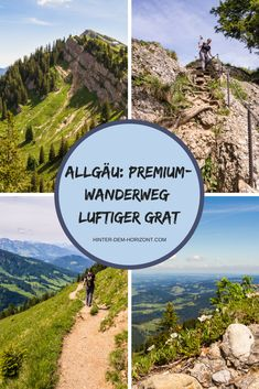 """Hiking in the Allgäu is a nice short vacation. In addition to simple hiking trails, there are also more demanding ones such as the premium hiking trail """"Luftiger Grat"""". My absolute highlight in the Allgäu! # allgäu Hiking in Europe Travel Tips, Travel Destinations, Cool Places To Visit, Places To Go, Short Vacation, Countries To Visit, Blog Voyage, Nightlife Travel, Culture Travel"""
