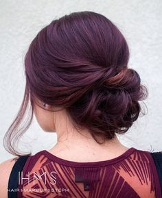 Thinking about bridesmaids wedding hairstyles for your big day? We collected elegant and popular hairdo ideas for long and medium hair. Long Hair Wedding Styles, Wedding Hair And Makeup, Short Hair Styles, Hair Makeup, Wedding Nails, Simple Wedding Updo, Simple Updo, Trendy Wedding, Elegant Wedding